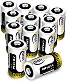 Keenstone 12 Piles Lithium CR123A, 3V 1600mAh Batterie Lithium Jetable, Haute...
