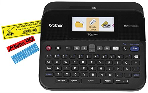 Brother P-touch Label Maker, PC-Connectable Labeler, PTD600, Color Display,...