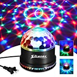 Party Lights,SOLMORE Disco Ball Disco Lights DJ Light Strobe Lamp Stage Strobe Effects Sound Activated Party Lights for Home Room Dance Parties Birthday Bar Karaoke Xmas Wedding Show Club Pub