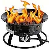 Kinger Home Portable Propane Fire Pit, 52,000 BTU 20 Inch Diameter, Propane Gas Fire Pit for Camping, RV Fire Pit, Campfire and Backyard Party