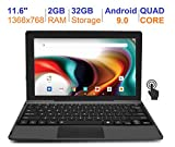 RCA 11 Delta Pro 11.6 Inch Quad-Core 2GB RAM 32GB Storage IPS 1366 x 768 Touchscreen WiFi Bluetooth with Detachable Keyboard Android 9.0 Tablet (11.6', Charcoal)