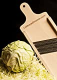 Cabbage Shredder & Slicer for Finely Cut Sauerkraut and Coleslaw. Compact Size. Super Fast Shredding, Slicing.