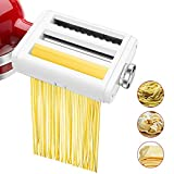 Pasta Maker Attachment for KitchenAid Stand Mixers 3 in 1 Set Includes Pasta Roller Spaghetti Cutter...