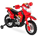 Best Choice Products Kids 6V Ride On Motorcycle, 2mph, Training Wheels, Lights/Sounds, Charger, Red
