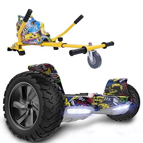 GeekMe Gyropode Hoverboard 8,5' Auto-équilibré Scooter électrique Tout Terrain avec Moteur Puissant Bluetooth&APP Intégré + Hoverkart Accessoire pour Gyropode Electrique