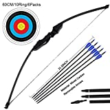 DOSTYLE Archery Takedown Recurve Bow and Arrow Set Hunting Long Bow Kit for Outdoor Shooting...