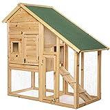 dibea Clapier Petit enclos pour Animaux Villa pour Lapin 140x65x119 cm