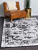 Unique Loom Sofia Traditional Area Rug, 8' 0 x 10' 0, Black