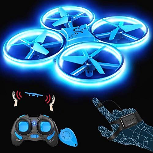 SNAPTAIN SP300 Mini Drone, Quadricottero RC Azionato a Mano con modalità G-Sensor, Lancia e Vola, 3D Filp, modalità Hovering, modalità Senza Testa, velocità Regolabile, Adatto ai Bambini