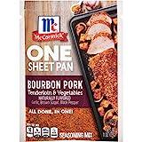 McCormick One Sheet Pan Bourbon Pork Tenderloin & Vegetables Seasoning Mix, 1 oz (Pack of 12)