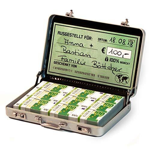 Chroma Products Geldkoffer als Geldgeschenk oder für Gutscheine - Mini Aktenkoffer aus Aluminium...