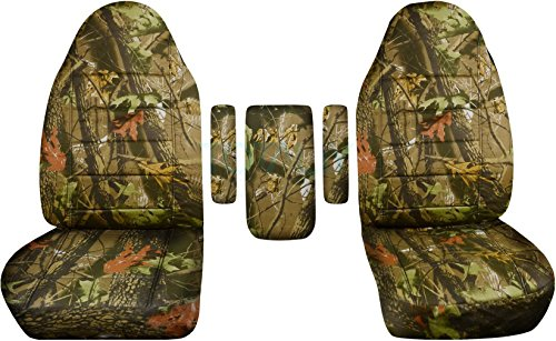 Totally Covers Compatible with 1999-2001 Ford F-150 F-250 F-350 Camo Truck Captains Chairs Seat Covers w 3 Armrest Covers (One per Seat + Center): Brown Tree Camouflage F-Series F150 F250 F350
