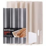 DOYOLLA 3-wave Perforated Baguette Bread Baking Pan Kit Including Bread Lame, Scraper & Pastry Proofing Cloth for Professional & Home Bakers