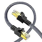 Cat 7 Câble Ethernet 5m, Snowkids Haute Vitesse Réseau 10Gbit/s 600MHz Plat...
