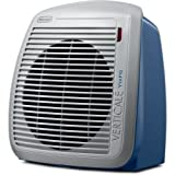 De'Longhi Portable Fan Heater, Quiet 1500W, 2 Heat Settings, Energy Saving, Overheat Protection, Compact & Ideal for Small to Medium Sized Rooms, Blue - HVY1030BL