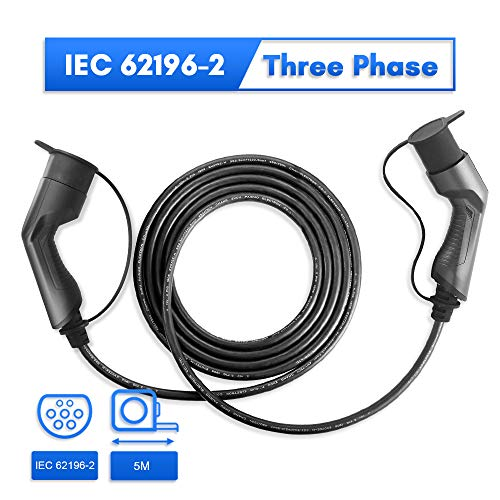 Morec 16A 11KW - Cable Trifásico - Tipo 2 a Tipo 2 - 5M