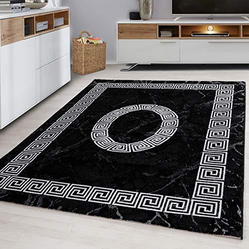 Carpet 1001 - Tappeto Jugendzimmer Teppich Versace, colore: Nero, Nero , 160x230 cm