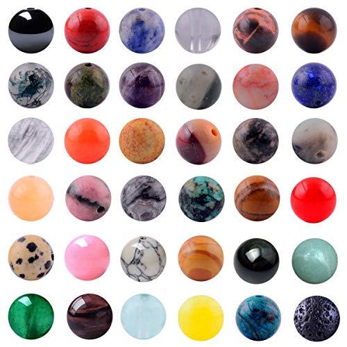 Natural Stone Beads Mixed 100pcs 8mm Round Loose Gemstone...