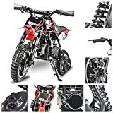 Fit Right 2020 DB001 49CC 2-Stroke Kids Dirt Off Road Mini Dirt Bike, Kid Gas Powered Dirt Bike Off...