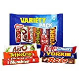 Original Nestle British Chocolate Variety Mix Rolos Aero Munchies Toffee Crisp Kit Kat Yorkie Imported From The UK England Nestle Variety Pack Original From England