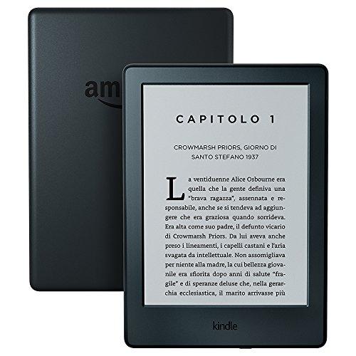 Kindle, schermo da 6' (15,2 cm), senza luce integrata, Wi-Fi (Nero) – generazione precedente (8ª)