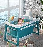 Baril de bain pliable Baril de bain pour enfants Baignoire pour bébé (Pourpre)