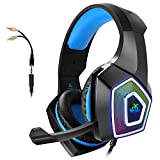 Gaming Headset with Mic for Xbox One PS4 PS5 PC Switch Tablet Smartphone, Headphones Stereo Over Ear...