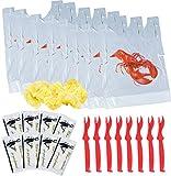 Catered Cravings Lobster Bibs Seafood Cracker Sheller Set