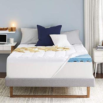Sleep Innovations 4-inch Dual Layer Gel Memory Foam Mattress Topper Ultra Soft Support, Twin