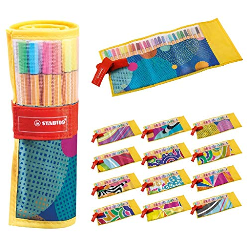 Fineliner - STABILO point 88 - Rollerset con 25 colori assortiti - Just like you Edition