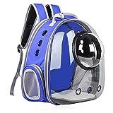 ZBHGF Mochila expandible en la Parte Posterior para Gatos con cápsula Espacial para Perros pequeños, Mochila de Camping,Azul