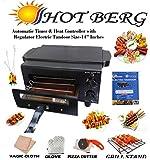 Hot Berg Smart Looking Automatic Timer & Regulator Electric Tandoor (Black) 2 Year Warrenty for Heating Element