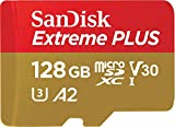 SanDisk Extreme Plus 128GB microSDXC Memory Card + SD Adapter with A2 App...