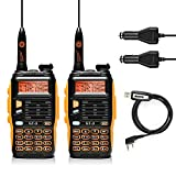 BAOFENG GT-3 Mark-II Dual Band Transceiver, FM Radio, 136-174/400-520 MHz, Chipsets Upgraded, ABS Frame and Programming Cable, 2 Pack