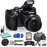 Nikon COOLPIX B500 Digital Camera (Black) (26506) USA Model + SanDisk 32GB Ultra Memory Card + Memory Card Wallet + Deluxe Soft Bag + 12 Inch Flexible Tripod + Deluxe Cleaning Set + USB Card Reader