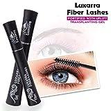 Luxarra 3D Fiber Waterproof Lash Mascara, Makes Thicker Eyelashes, 2 Tubes - 2.4 Ounces