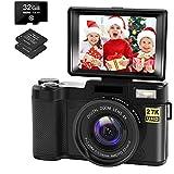 Appareil Photo Numérique Vlogging Camera 30MP Caméra Full HD 2.7K avec...