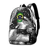 Lawenp Mochila Galaxy Brazil Till I Die Mochilas de Moda para niños Bolsa para Viajes Escolares Negocios Compras Trabajo