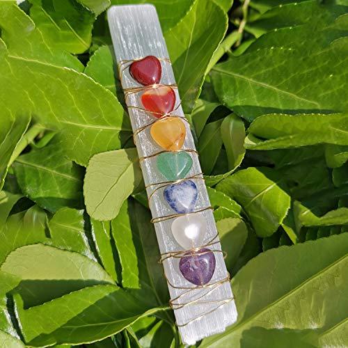 1Pcs Healing Crystals,Chakra Crystals,Handmade Selenite...