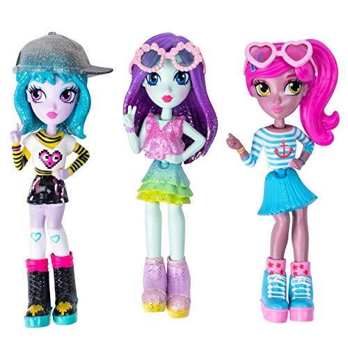 Off the Hook Style Doll 3 Pack, 4' Small Dolls with Mix & Match Fashions & Accessories, for Girls Aged 5 & Up, Exclusively at Amazon