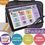 FACILOTAB Pack L 10,1 Pouces WiFi/3G+ - 32 Go - Android 9 + Support + Sacoche +...