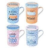 Mug Taza con Filtro Metal x4 Colores 11 cm