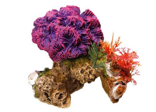 "Nobby Aqua Ornaments \""KORALLE\"" mit Pflanzen  13 x 10 x 12 cm"