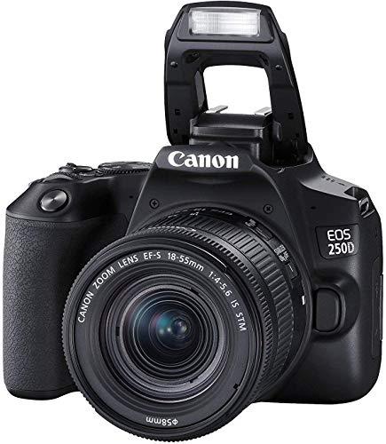 EOS 250D - Fotocamera DSLR con obiettivo Canon EF-s 18-55 mm f/4-5.6 IS STM