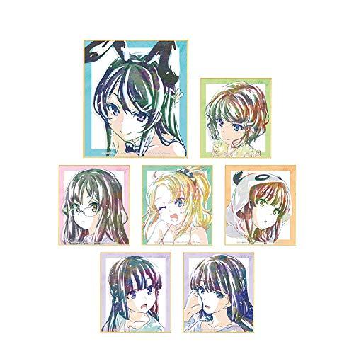 青春ブタ野郎はバニーガール先輩の夢を見ない トレーディング Ani-Art ミニ色紙 BOX商品 1BOX=7個入、全7種類