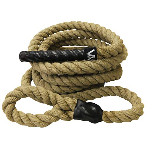 Valor Fitness CLR-25 Sisal Climbing Rope for Cross Training and Functional Conditioning – 25' Rope Length, Spliced to Create Loop