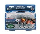 Dremel EZ688-01 EZ Lock Rotary Tool Cutting Discs Accessory Kit- Cut-Off Wheels – Plastic, Metal, and Thin Cuts, 11 piece,As the picture shown,Medium