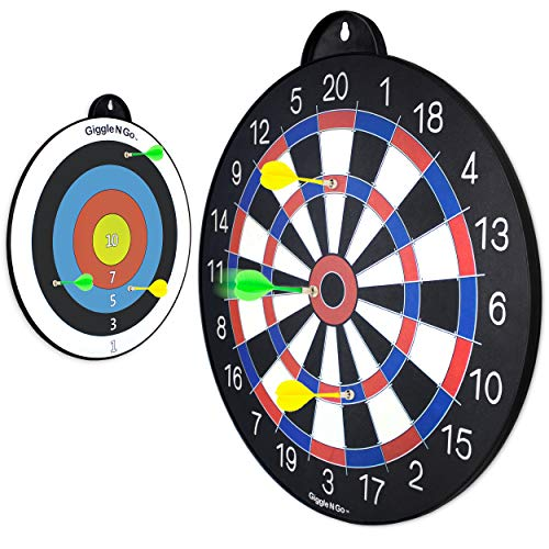 GIGGLE N GO Magnetic Dart Board Kids - Magnetic Dart Board for Boys or Girls. Boys Gifts Age 6 and Above. Fun Dart...