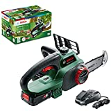 Bosch Home and Garden 3 600 HB8 000, 135 mm 96 dB UniversalChain 18 Cordless Chainsaw