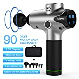 Massage Gun Deep Tissue Percussion Muscle Massager for Pain Relief, Handheld Electric Body Massager Sports Drill Portable Super Quiet Brushless Motor,20Speeds Percussion Massage Feeke P3 Pro